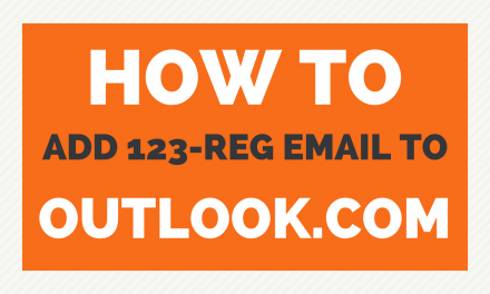How to add a 123-reg email to Outlook.com